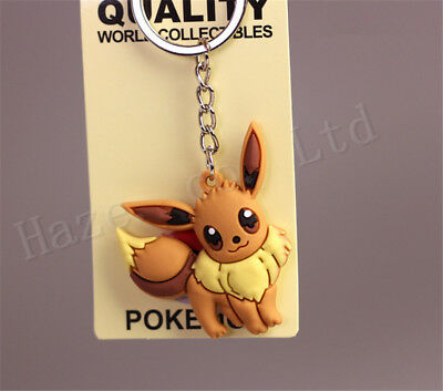 Pocket Monster Pokémon Silica Gel Keychains Keyrings  Gift