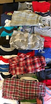 HUGE Lot Boys Clothes 4 5 XS 5T Old Navy Gymboree Summer Shorts Shirts Set