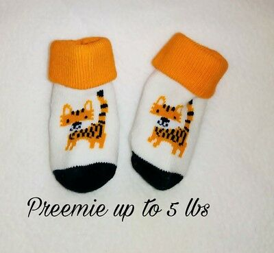 NWOT Gymboree Preemie boy or girl with kitty socks adorable reborn.