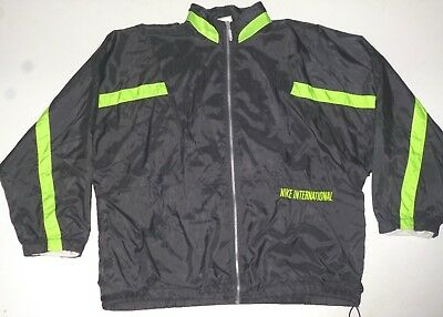 Vintage 80er NIKE INTERNATIONAL Trainings Jacke Windbreaker Ballonjacke  Nylon L