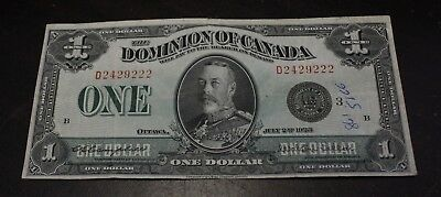 1923 $1 Dominion of Canada Goup 2 serie D  DC-25n 2429222