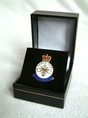 Military Armed Forces National Service Veterans Enamelled Lapel Badge Army Navy