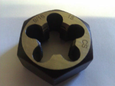 "9/16""-18 Carbon Steel Hexagonal Re-Threading Die"