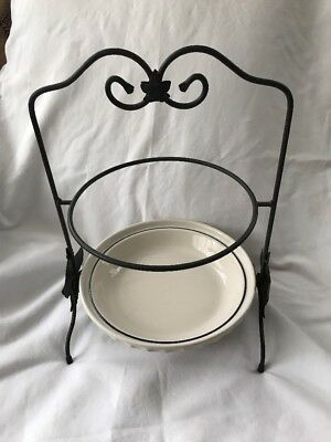 LONGABERGER WROUGHT IRON Two Tier Pie Plate Holder Rack - $23.13 ...