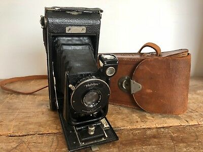 Vintage Ensign Carbine No. 10 HOUGHTON-BUTCHER Folding Camera with leather case