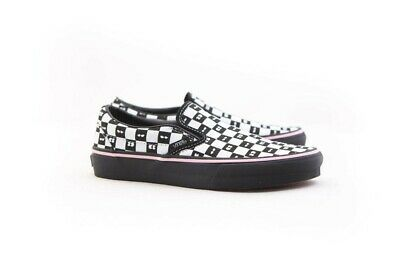 e7263cf7c2bf VANS X LAZY Oaf Classic Slip-On Black Checkerboard Eyeballs Womens ...