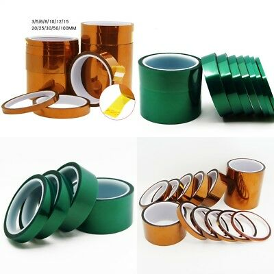 1 Roll 100ft Polyimide PET Tape High Temperature Heat Resistant BGA PCB All Size