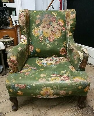 Antique Victorian Armchair arm chair Cornelius V Smith fireside