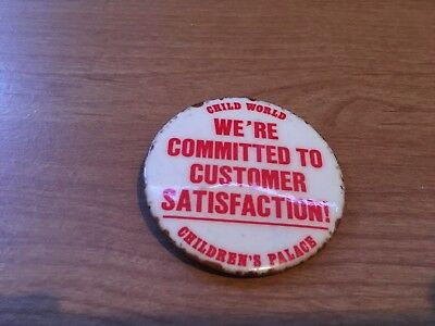 Vintage Rare Childrens Palace / Child World Customer Satisfaction Pin