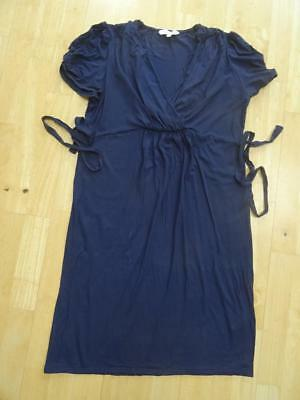 RED HERRING MATERNITY ladies navy blue stretch jersey dress UK 14 EXCELLENT