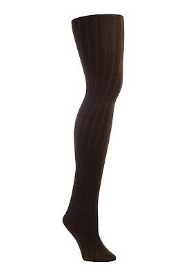 25e8d15cd18a6 New Women's Warm Fleece Lined Ribbed Tights (Brown) for the Cold Winter