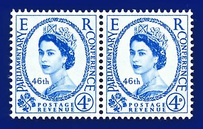 1957 SG560 4d 46th Inter-Parliamentary Union Conference Pair MMH apit