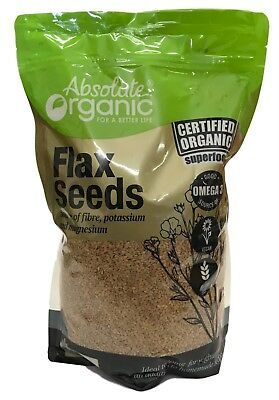 Flax Seeds Absolute Organic 1.5kg Certified Organic Superfood Omega 3 Protein
