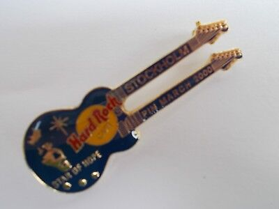 HRC Hard Rock Cafe Stockholm DN Guitar Pin Star of Hope Pin March 2000 LE
