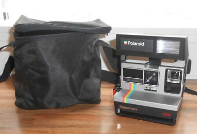 Polaroid Supercolor 635 Instant Vintage 80s Camera Takes P600 Film Tested VGC