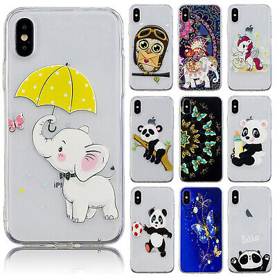 For iPhone XS Max 8 7 XR Cute Fashion Pattern Soft Silicone Slim TPU Case Cover