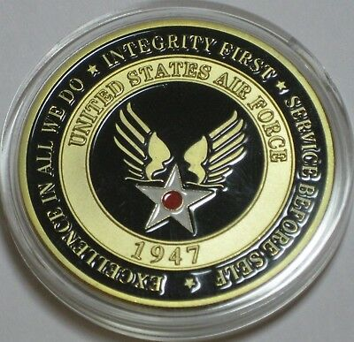 Usaf Air Force Becoming An Airman Award Aim High...fly-Fight-Win Coin