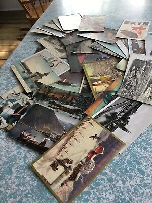Vintage Postcards Norway lot of 36 mixed theme. Postmarked and writing