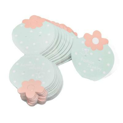 50Pcs Lovely Strawberry Shape Paper Cards for Earrings DIY Jewelry Packaging