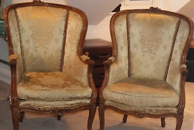 Pair of Antique FRENCH Chairs in need of upholstery