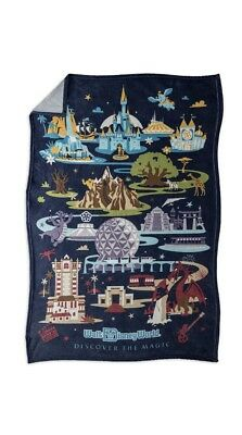 Disney Parks Walt Disney World Four Parks Passport Fleece Throw Blanket Epcot