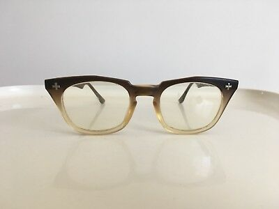 1950s Bausch & Lomb Glasses Sunglasses Brown Fade 50 22 6
