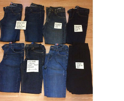 8 pairs of Boys Size 14 Jeans Levi's, Old Navy, Chaps