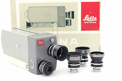 "Leica Leicina Film Camera Lens DYGON 2/15mm/2/6.25mm 2/36mm 2/9mm "" Set """
