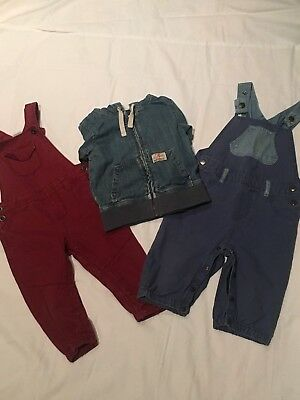 Boys Pumpkin Patch/Target Dungeree Overalls and Country Road Jacket Size 1