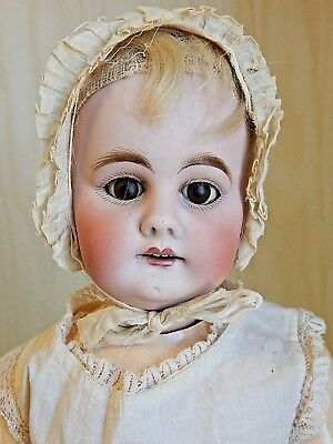 "Antique KESTNER? 300/9 18"" Bisque Head Doll w/Square Cut Teeth, Straight Wrists"