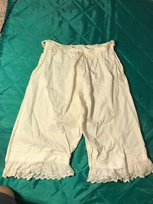 Antique Cotton Lace Trimmed Bloomers