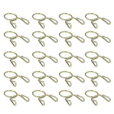 20X Fuel Line Hose Tubing Spring Clip Clamp 7mm For Motorcycle ATV Scooter O6Y1