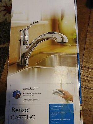 Renzo Single Handle Pull Out Kitchen Faucet By Moen Inc Faucets