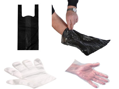 DOGGY BAGS -  Pooper Scooper Bag Dog Cat Poo Waste Toilet Poop and Hygiene Glove