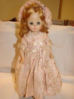 Vintage 13 Inch Madame Alexander Doll With Tagged Dress Clothing Sleep Eyes