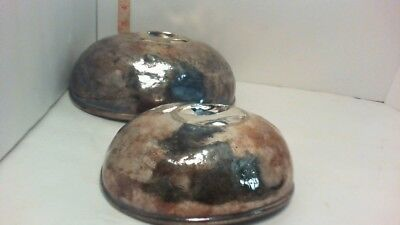 pair Wallace Antique Silver plate Dome platter covers cloche  The Greenbrier