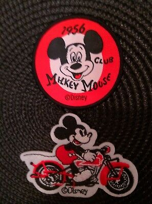 Mickey Mouse Club 1956  & motorcycle Mickey  Sew on Iron On Patches PATCH LOT