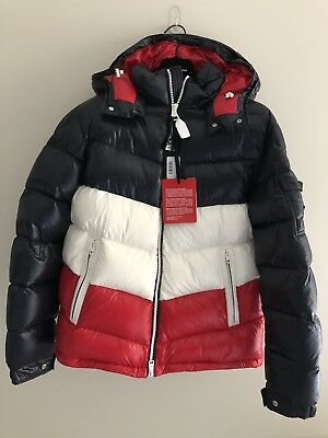 2a9c740b2 KITH X MONCLER Rochebrune classic down jacket Size 3 Large in navy/red.