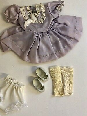 "1940's-50's Dress, Shoes, Socks And Panties-fits Madame Alexander 8"" Dollsummer"