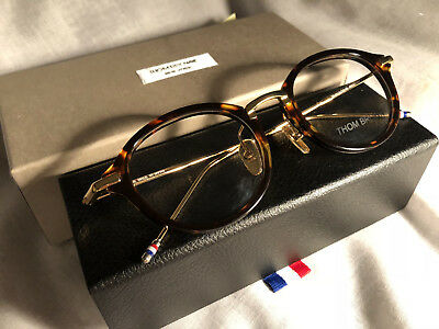 New THOM BROWNE TB-011  49-21-150 mm EYEGLASSES Tortoise Color Japan