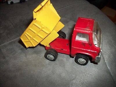 Vintage 1960's Marx Toy Pressed Steel Dump Truck nice collectible