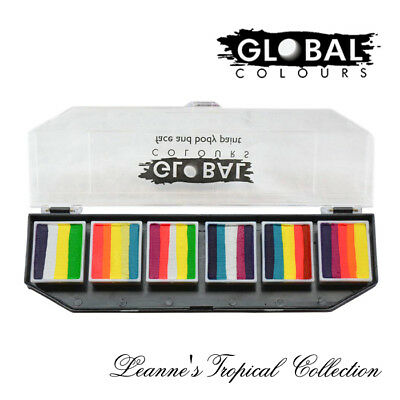 Global Colours Face Paint Funstroke Palette - Leanne's Tropical Collection