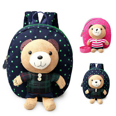 Kids Backpack Safety Harness Reins Toddler Strap Bag Cute Baby Bear Detachable