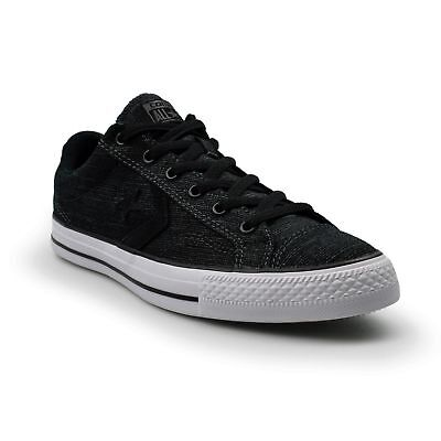 Converse Star Player Dobby Weave Ox Black Mens Trainers New 156671C