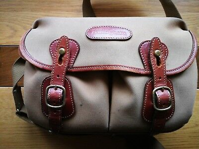 Billigham small Hadley camera bag used good condition.Tan and leather colour.
