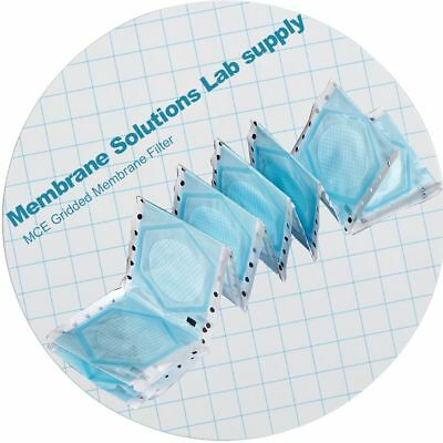 100pcs MS® MCE Gridded Membrane Filter 47mm, 0.45μm,Particle Removal & Analysis
