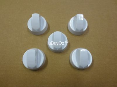 Universal Oven Cooktop Knobs White (5 Pack)