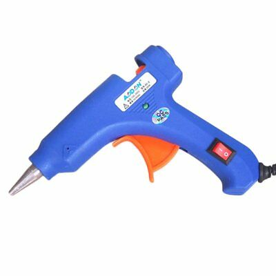 20W Electric Heating Melt Glue Gun 7mm Adhesive Stick Hot Trigger LOT MK