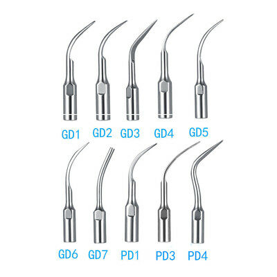 Fit DTE SATELEC Dental Ultrasonic Piezo Scaler Tips GD1-GD7 PD1-PD4 SS Material
