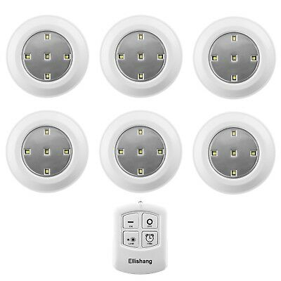 SEALED CAPSTONE 6 Wireless LED Puck Lights 18 AAA Batteries w Remote ...
